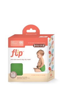 Flip: Stay Dry (Individual) One-Size Diaper Cover + Stay Dry Insert - Snap Closure