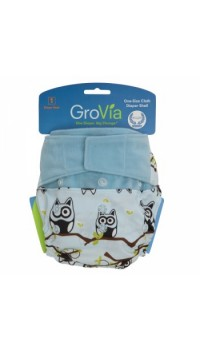 GroVia Shell - Owls (Cover only - Snaps and H&L)