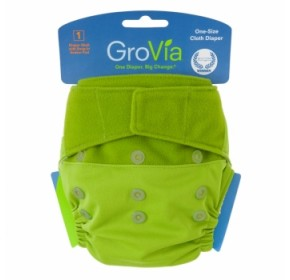 GroVia Shell - Kiwi (Cover only - Snaps and H&L)