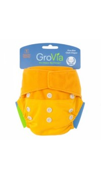 GroVia Shell - Mandarin (Cover only - Snaps and H&L)