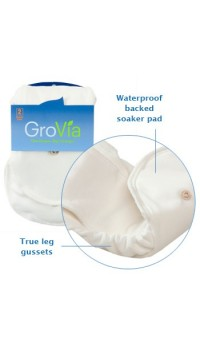 GroVia Organic Cotton Soaker Pad - 2 per pack