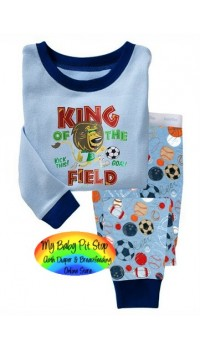 GAP Sleepware Boys 2pc set - King of The Field (2Y)