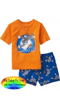 GAP Sleepware Boys 2pc set - Tom & Jerry (2Y)