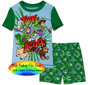 GAP Sleepware Boys 2pc set - Toy Story Shorts (18M, 2Y, 4Y)