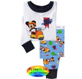 GAP Sleepware Boys 2pc set - Mickey Mouse Road Rally Racer (18M, 5Y)
