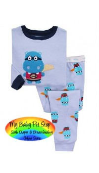 GAP Sleepware Boys 2pc set - Super Hippo (18M, 2Y, 5Y)