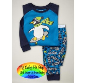 GAP Sleepware Boys 2pc set - Surfing Penguin (18M, 4Y, 5Y)