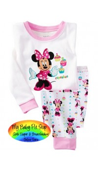 GAP Sleepware 2pc set - Minnie Mouse Cup Cakes (18M)