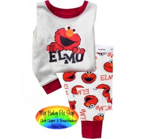 GAP Sleepware 2pc set - ELMO (White) (3Y)