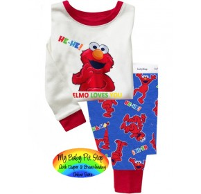 GAP Sleepware 2pc set - ELMO Loves You (5Y, 6Y)