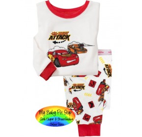 GAP Sleepware Boys 2pc set - Mcqueen Drift Attack (18M, 2Y)