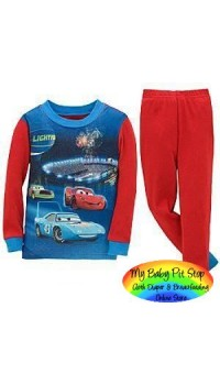 GAP Sleepware Boys 2pc set - Cars McQueen (18M, 2Y, 6Y)