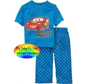 GAP Sleepware Boys 2pc set - Carz (Blue) (5Y )