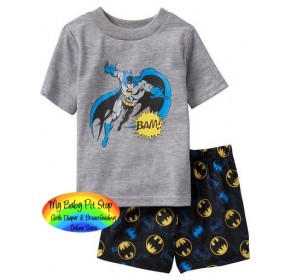 GAP Sleepware Boys 2pc set - Batman Shorts (2Y)