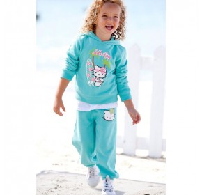 Hello Kitty Long Sleeve with Hood - Surfing (BLUE) (3Y, 5Y)