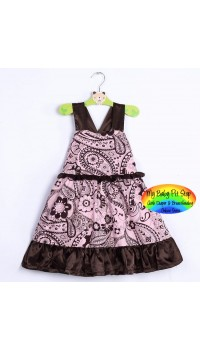 DKNY Empire Waist with tie back ribbon dress (4Y, 6Y)