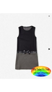 Zara Girls Ponte Di Roma Knit Dress w/Bow (3Y, 5Y, 9Y)