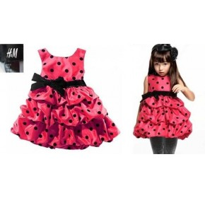 H&M Red Polka Dot Tiered Dress ( 3Y)