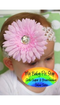 Gerber Daisy Flower Hairband (Pink)