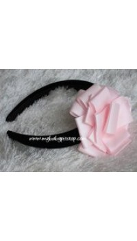 Aliceband - Notti Peppi Big Pink Ribbon Flower with Wide Black Band