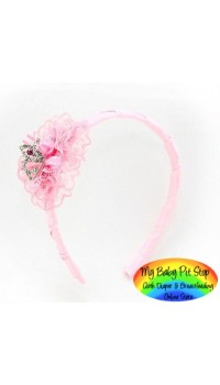 Aliceband - Princess Crown with Rhinestones in Pink