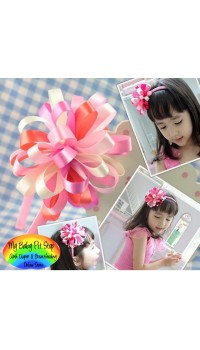 Aliceband - Pretty Flower Loop Bow on Pink