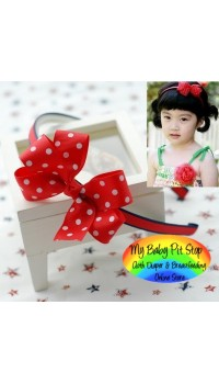 Aliceband - Red Polka Dot Elegant Bow Slim