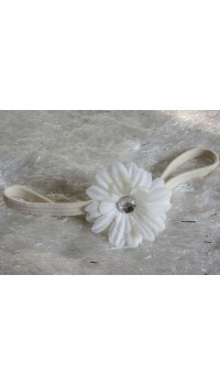 Small Daisy Baby Girl's Headband (White)