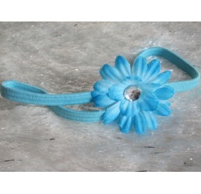 Small Daisy Baby Girl's Headband (Baby Blue)