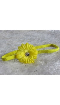 Small Daisy Baby Girl's Headband (Sunshine Yellow)