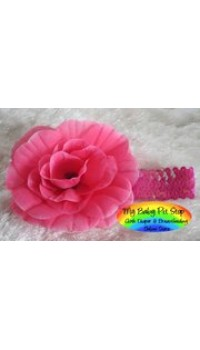Girls Raspberry Large Flower Sequins Headband