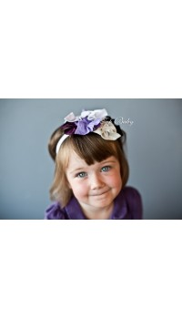 Top Baby Headband - Colorful Purple