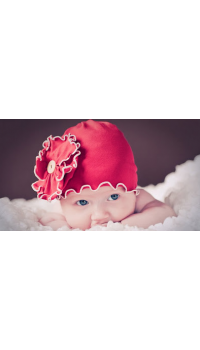 Top Baby Flower Beanie Hat - Pretty Red Flower