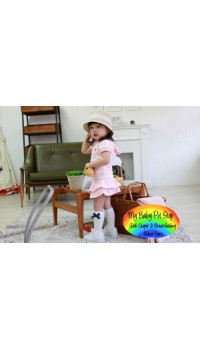 Korean Brand Pink Little Angel 2pc set (5Y, 6Y)