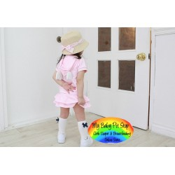 Korean Girls 1pc Dress - White/Black (2Y, 3Y)