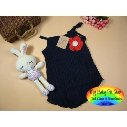 Korean Brand Girls Pleated Dress w/Red Rosette (3Y, 6Y)