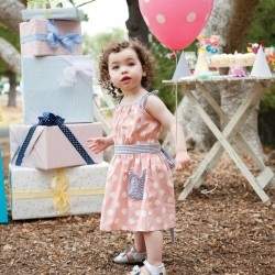 Korean Brand Girls Pink Polka Dot Dress with Sunhat (3Y, 4Y)