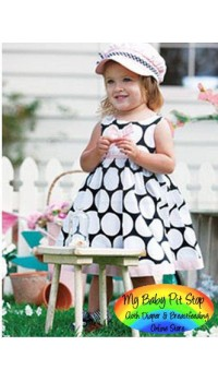 Summer Girls Big Dots Party Dress (2Y, 3Y)