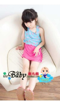Korean Girls Overlay Pink Polka Dot Dress (1Y)