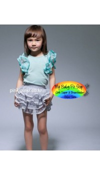 Korean Girl Silver Tutu Skirt (2Y, 3Y, 4Y, 5Y, 6Y, 7Y)