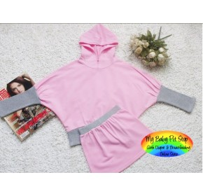 Korean Girls Pink & Grey Hoodie (4Y)