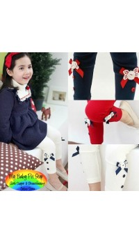Korean Brand Girlz Legging with Buttons - Navy (2Y, 3Y, 4Y)