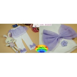 Korean Brand Girlz Lavender Mesh Skirt with Attached Legging (2Y, 3Y, 6Y)