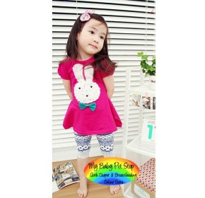 Korean Girls Sweet Bunny Dress / Top (2Y)