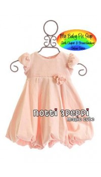 Magic Cube Notti Peppi Girls Bubble Dress with Rosetta (2Y)