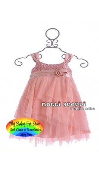 Magic Cube Notti Peppi Girls Sequinned Mesh Party Dress (2Y, 3Y, 4Y)