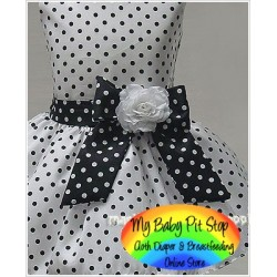 Magic Cube Notti Peppi Girls Polka Dot WhiteParty Dress (6Y)