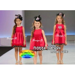 Magic Cube Notti Peppi Red Ruffles Dress (1Y, 3Y)