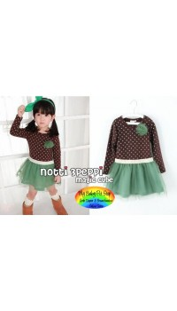 Magic Cube Notti Peppi - Green Polka Dot tutu (6Y)