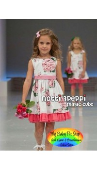 Magic Cube Notti Peppi Floral Dress (2Y, 3Y, 4Y)